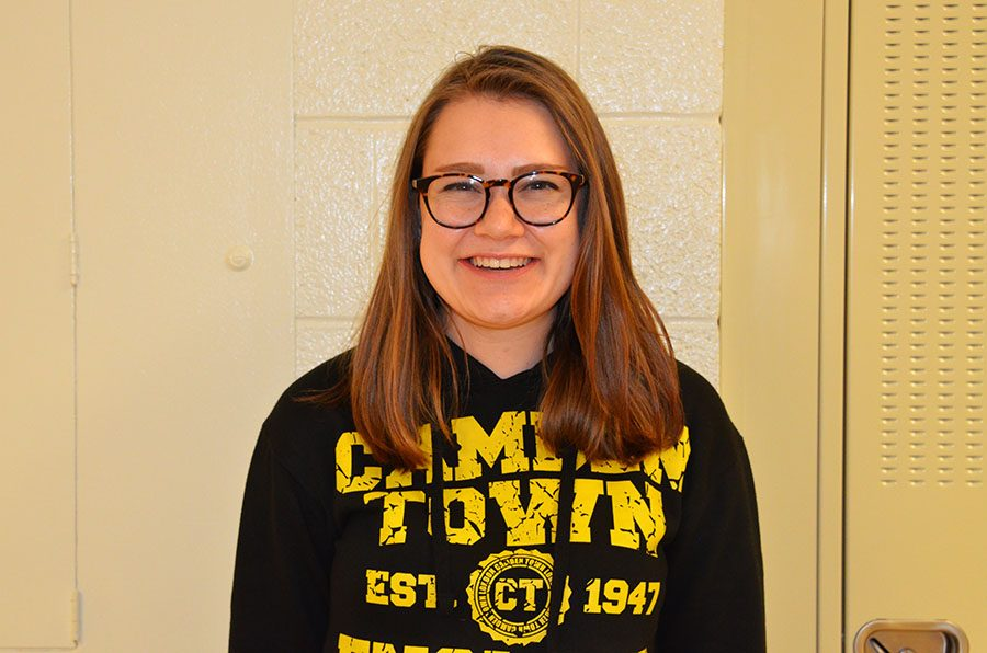 Lucy Polyak '19 smiles about her next publication of Lucy's Lowdown.