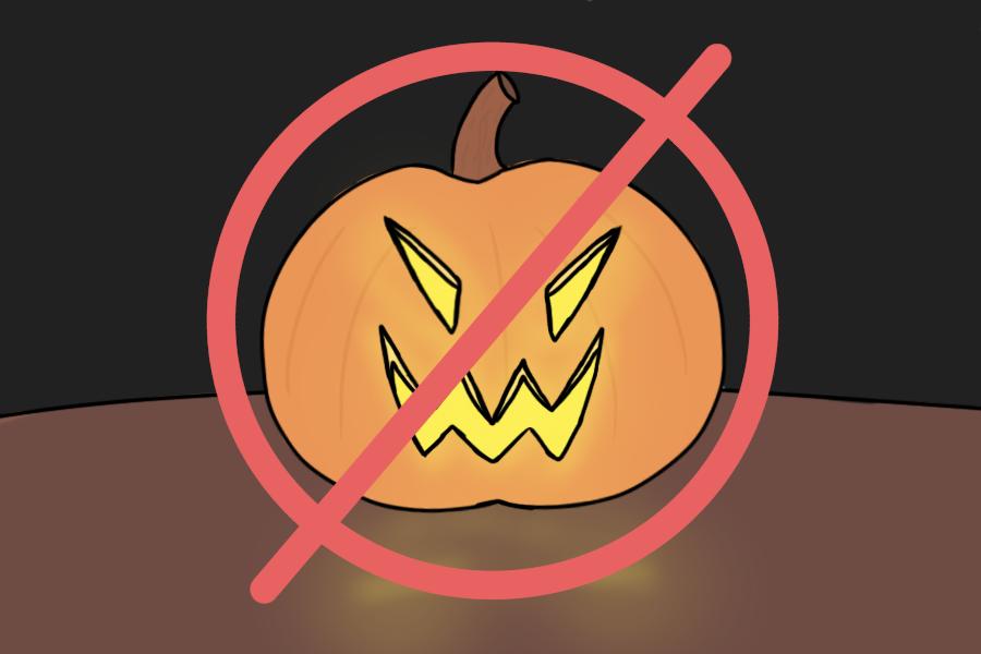 No costumes, no jack-o'-lanterns, no candy corn