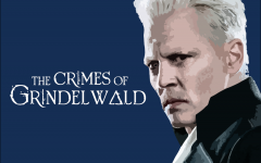 Johnny Depp gives a piercing stare as 'Gellert Grindelwald.'