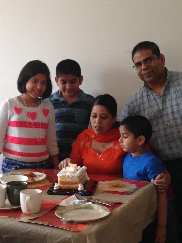 Naz+celebrates+her+birthday+surrounded+by+her+family.+Photo+provided+by+Samina+Naz.