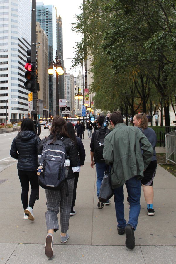 WSS staffers sightsee in Chicago in between media tours and workshops.