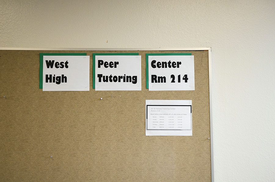 Originally the tutoring center was open to only AP and honors students, but now it is open to all students.