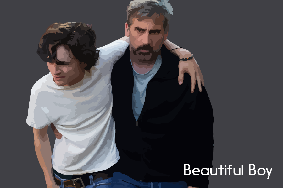 David Scheff (Steve Carell) carries his teenage son Nic (Timothee Chalamet) home after an overdose.