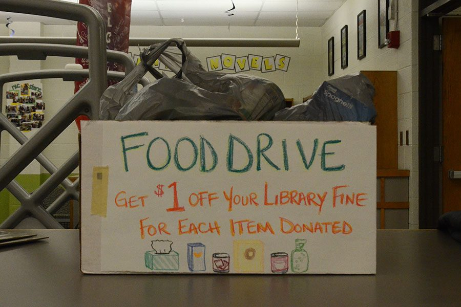 Student Senate held their annual food drive from Nov. 26 to Dec. 21.