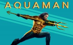 Aquaman (Jason Momoa) wields the trident of Atlan.