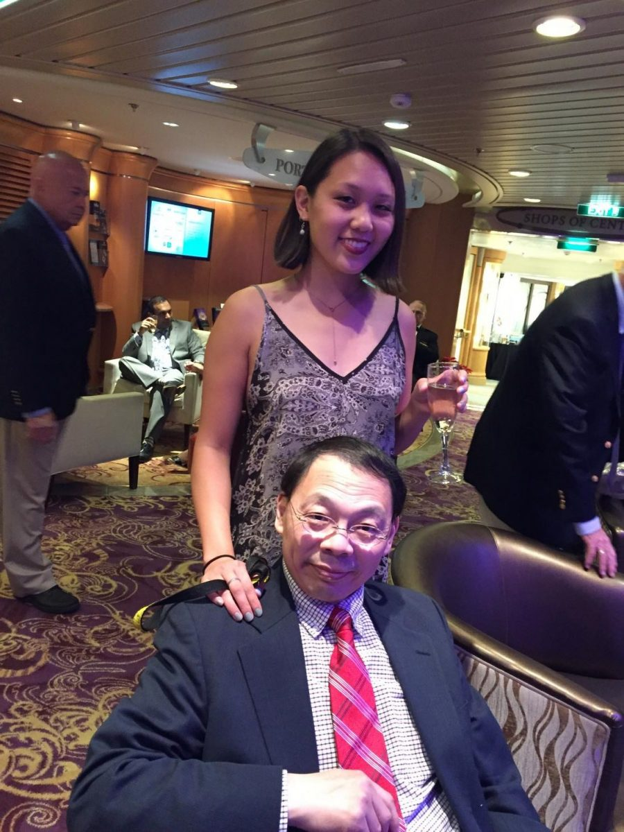 Shirley Wang '14 poses for a photo with her father, Lin Wang. Though he passed away, Shirley aspires to keep his memory close and find aspects of him in the world around her.