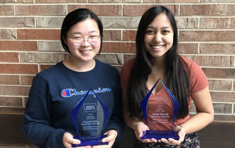 IHSPA named Crystal Kim '19 as Designer of the Year and Anjali Huynh '19 as Writer of the Year.