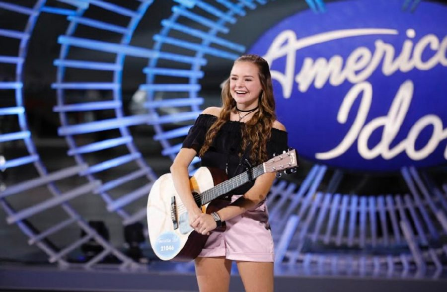 As+a+high+school+student%2C+Abbie+Callahan+%2720+has+taken+her+music+career+all+the+way+to+American+Idol.+