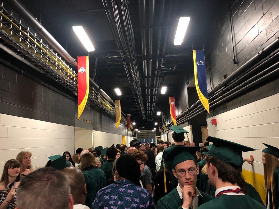 Tornado warning interrupts graduation