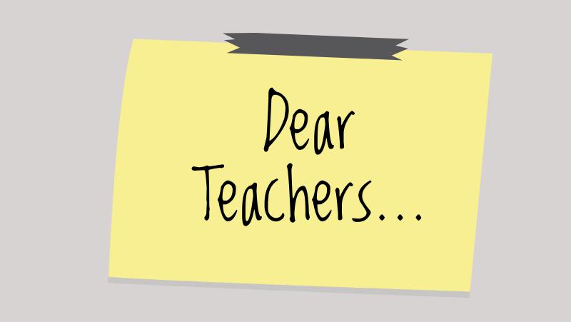 Dear teachers: from the class of 2019