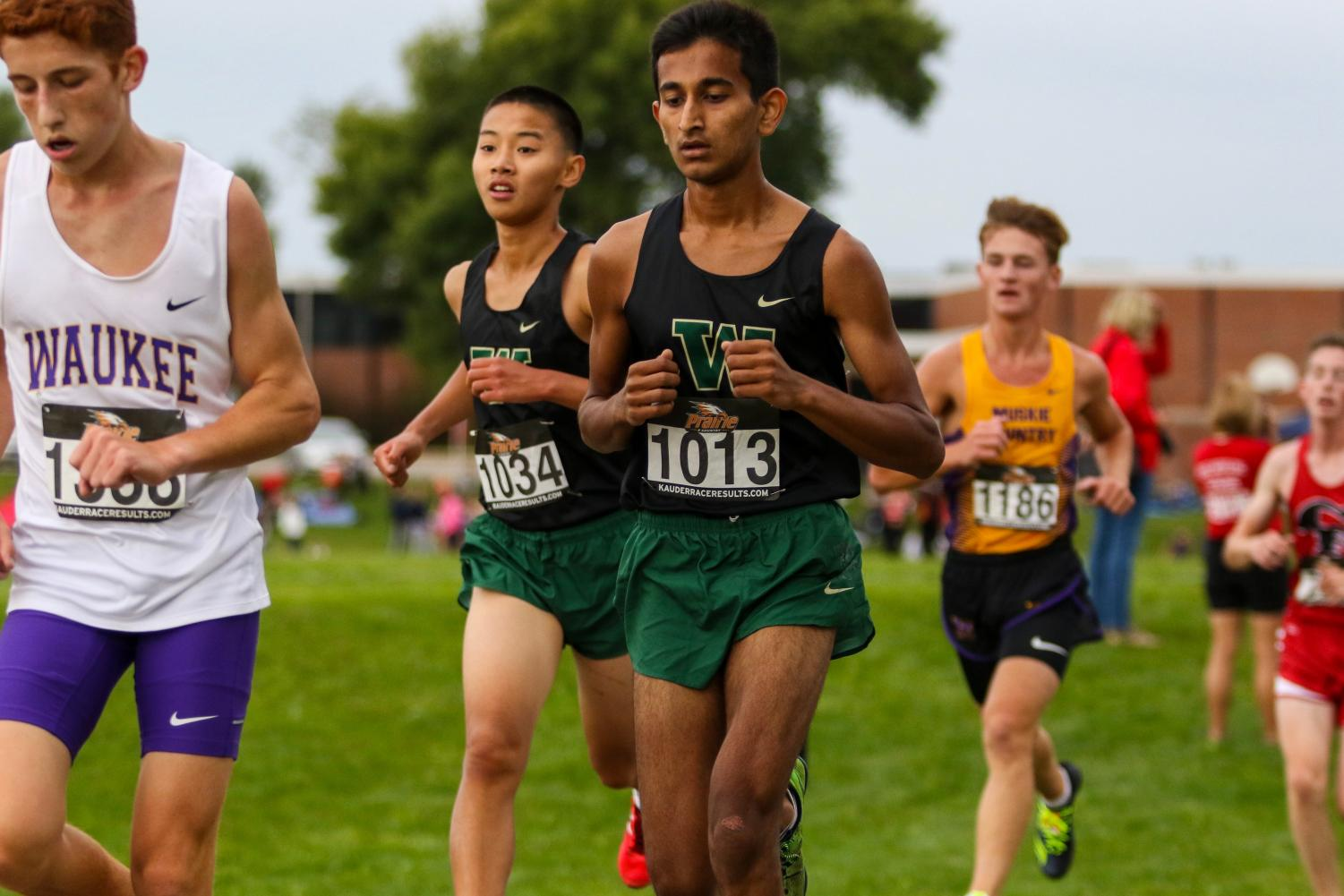 Mohan+Kumar+%2721+finds+a+solid+pace+during+the+Prairie+Invitational+at+Prairie+High+School+on+Aug.+31.