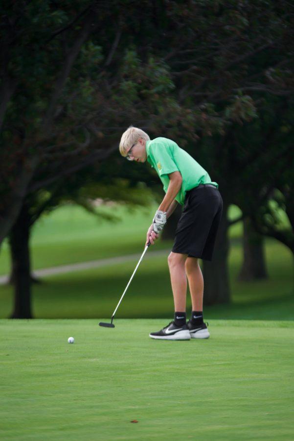 Brendan Klutts 21 putts during a home meet at Finkbine Golf Course on Sept. 12.