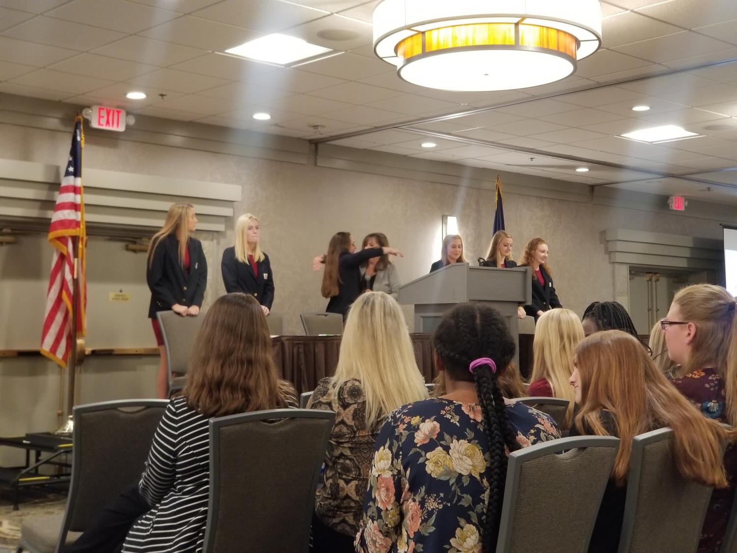 The state officer team concludes the 2019 Fall Leadership Conference