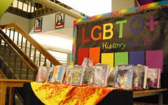 The West high library celebrates LGBTQ+ history month by highlighting an array of books.