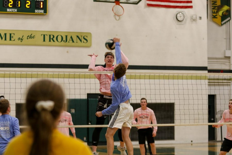 Andrew+Tauchen+%2721+blocks+Even+Brauns+%2720+spike+leading+the+juniors+back+into+the+game+during+West+High%27s+annual+man+ball+game+on+Oct.+3rd.+