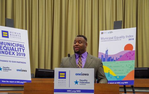 City Council member Bruce Teague speaks about his experience as a gay man in Iowa City.