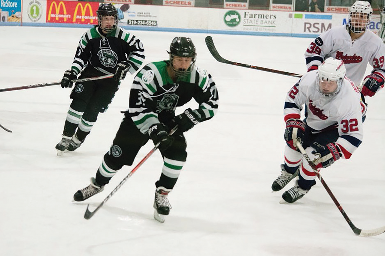 Chris Pigge '21 plays with the Cedar Rapids RoughRiders, which participates in a total of 33 games each season.
