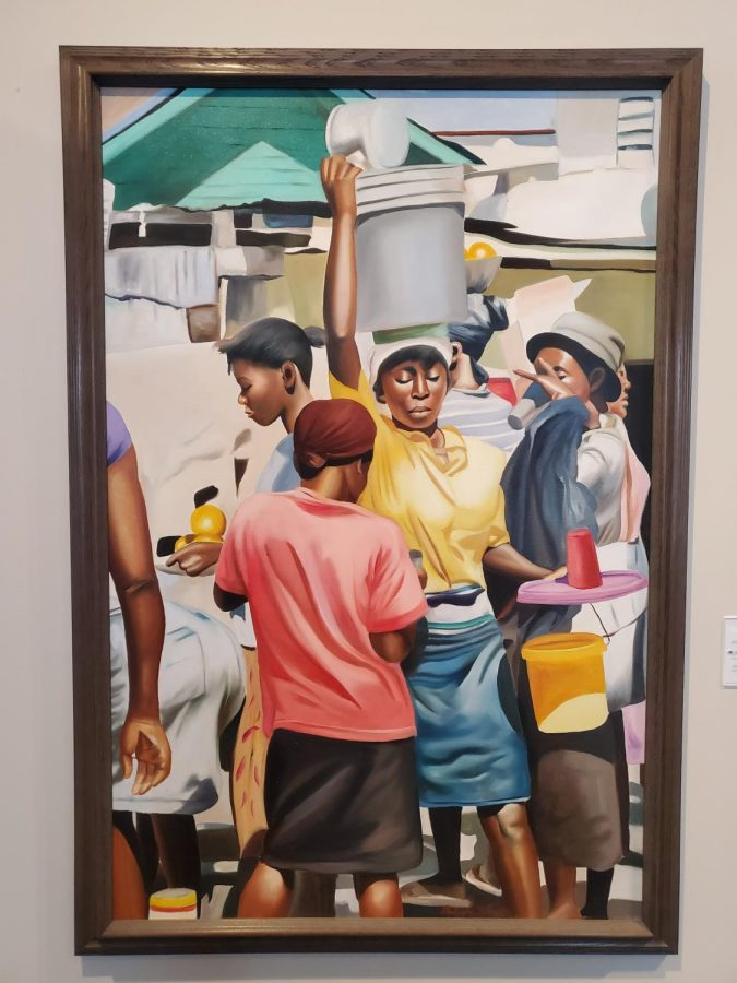 Philippe S. Auguste, Untitled, oil on canvas, c. 2001, WCA Haitian Collection 2007.0289, Gift of Janet Feldman