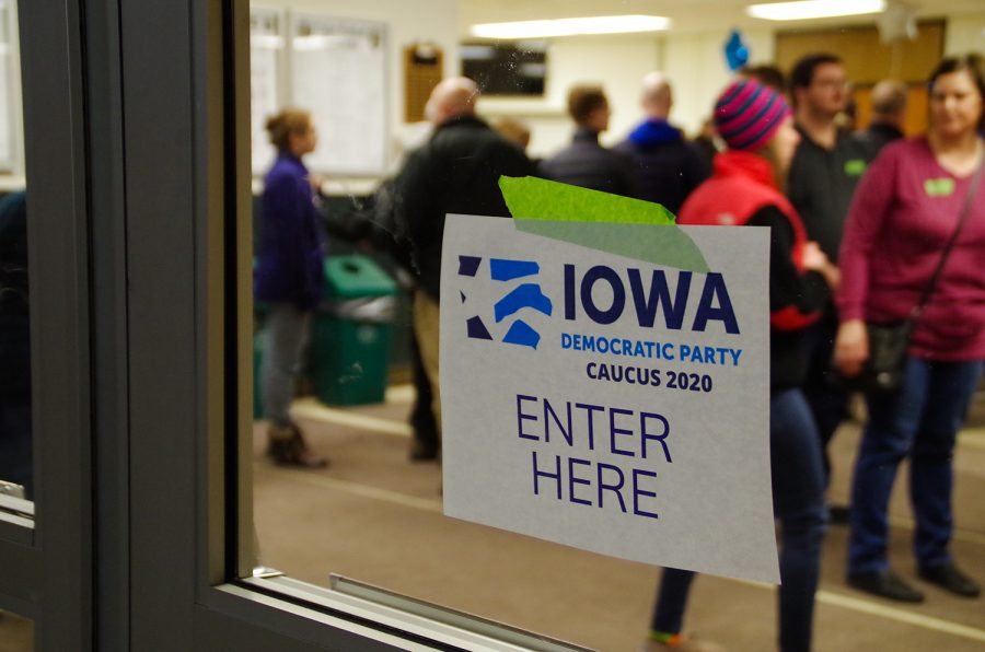 Community+members+attend+the+Iowa+caucuses+at+West+high+on+Monday%2C+Feb.+3rd.+
