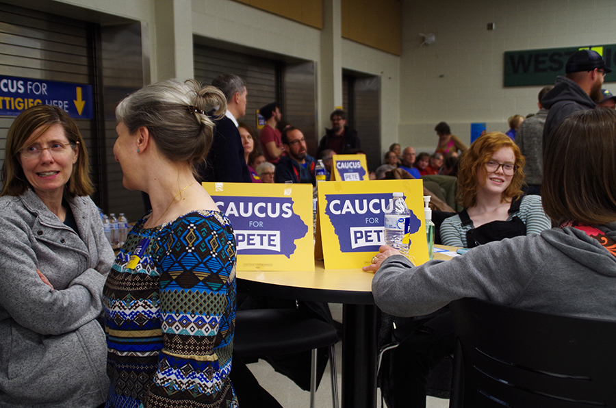 Young and old came together on Monday, Feb. 3rd to caucus for their favorite candidates.