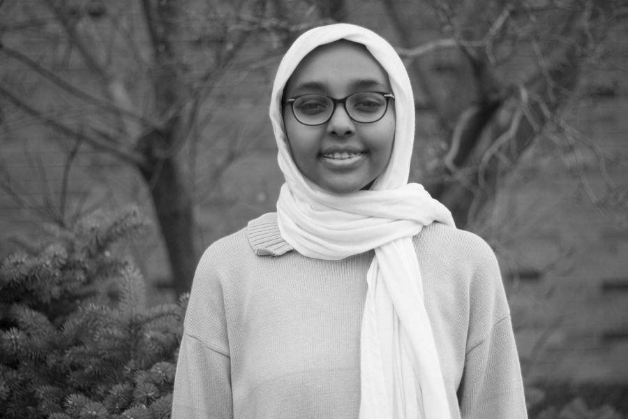The lack of options in Iowan stores leads Amina Ahmed '20 to buy her scarves when she visits Sudan.