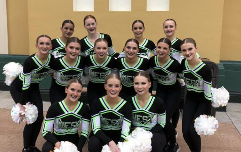 The West High Poms at UDA Nationals on Jan. 31, where they placed in the top 10 in the nation.