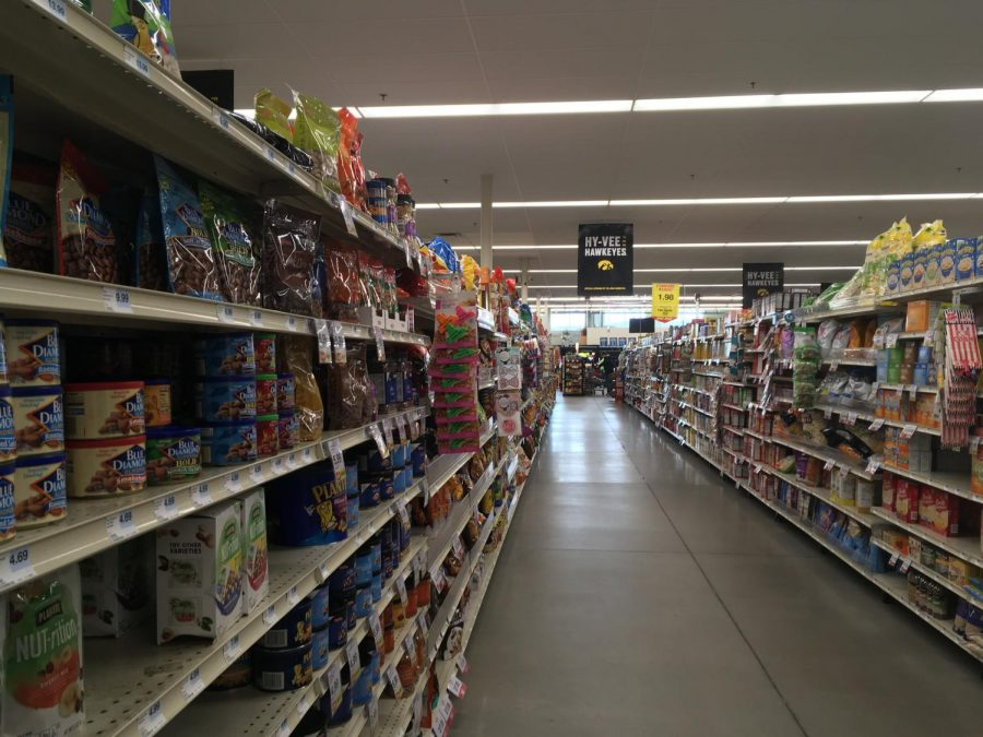 Amid fears of COVID-19, many grocery store aisles are devoid of shoppers.