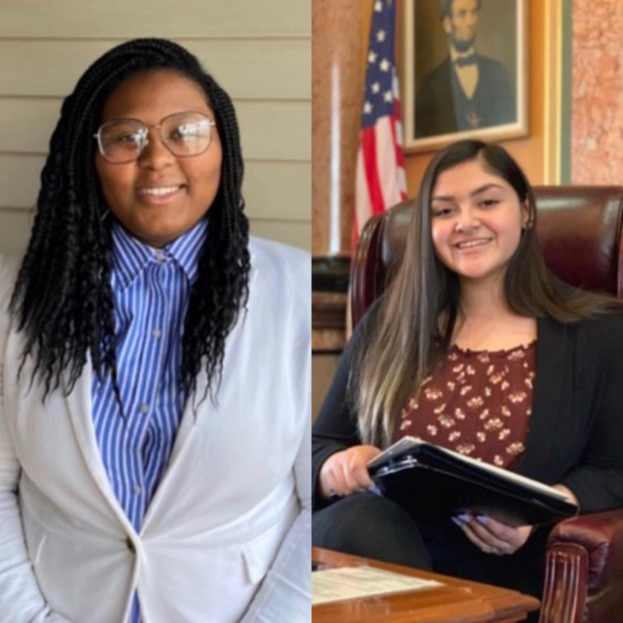 Dasia+Taylor+%2721%2C+left%2C+is+running+as+student+senate+president+with+Miriam+Aguirre+Ferrer++%2721%2C+right%2C+as+vice+president.+