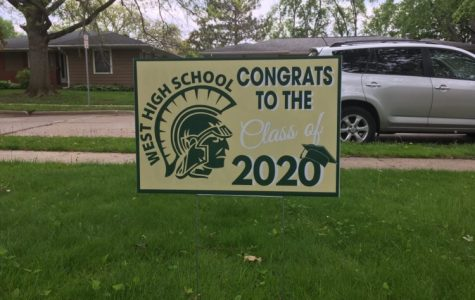 Yard signs that honor the class of 2020 were placed in seniors' yards on May 15.