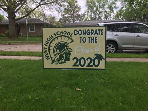 Yard signs that honor the class of 2020 were placed in seniors
