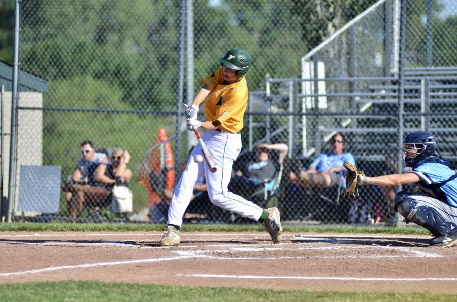 Ben Vander Leest 20 makes contact with a ball on June 25.