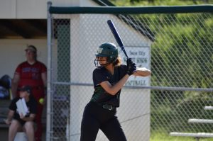 Liv Williams '21 focuses on the pitcher July 3.