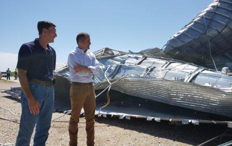 Damaged storage bins were just one casualty of the derecho that tore through Iowa on Aug. 10.