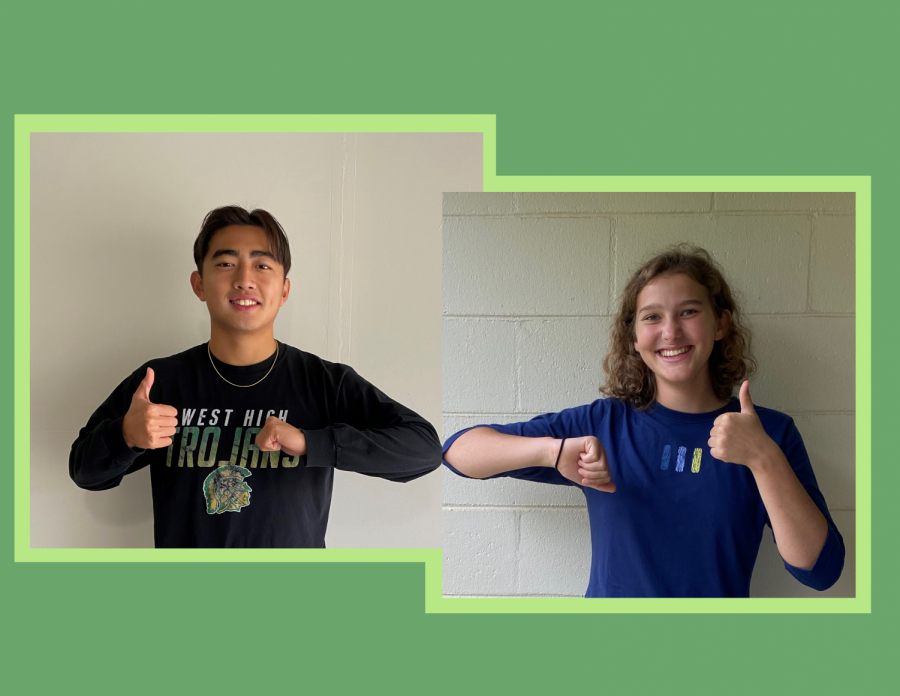 Yulong+Shao+%2721+and+Lucy+Westemeyer+%2721+were+announced+as+senior+class+president+and+vice-president+Oct.+26.