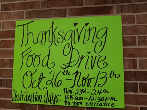 Thanksgiving food drive to end Nov. 13