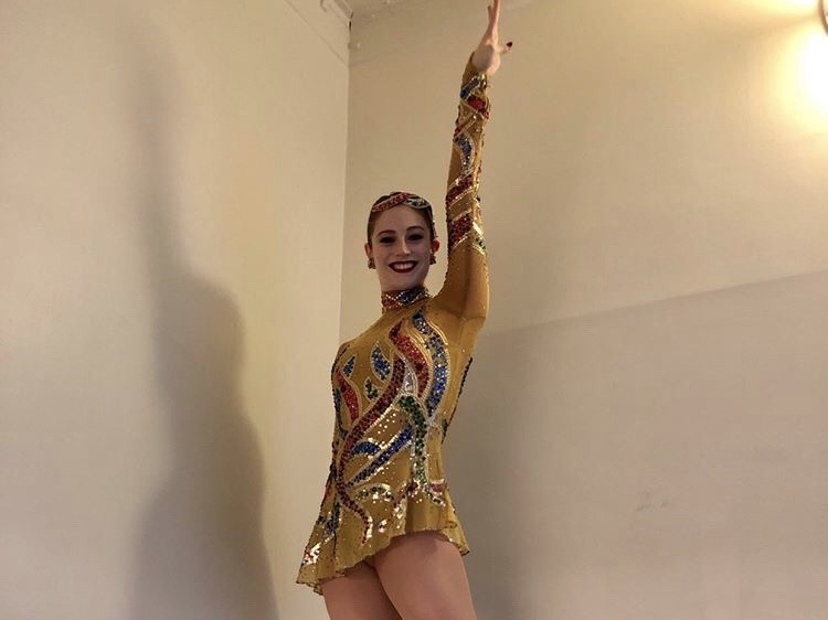 Katie Milani '23 poses in her Rockette uniform. Milani became a Radio City Rockette after attending Park Point University.