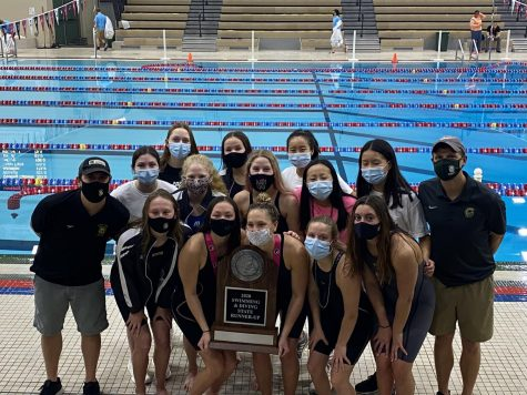 The girls swim team placed second at the state meet in Marshalltown with a total of 277.5 points Nov. 14.