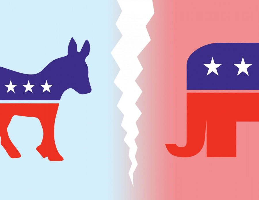 The divide between Democrats and Republicans is ever-apparent.