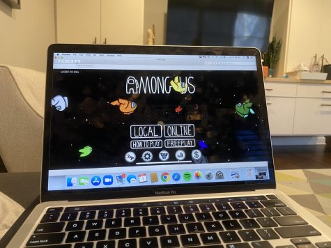 Among Us is a video game that can be played on mobile phone or on a computer.