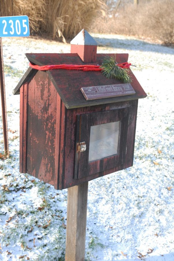 The first Little Free Library in Iowa payed tribute to Christine Rohret and Mary Mascher's father.
