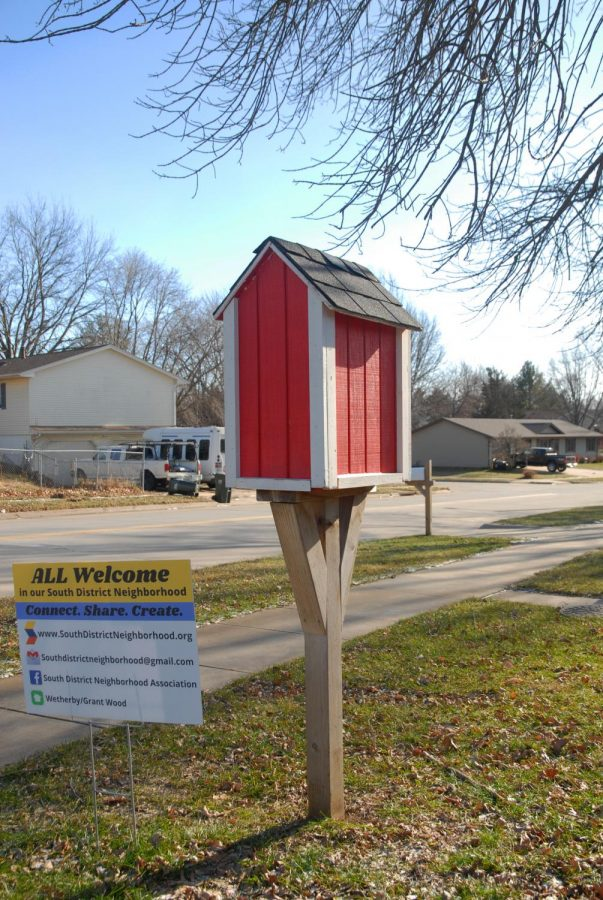 This Little Free Library is stocked by Andrew Coghill-Behrends.