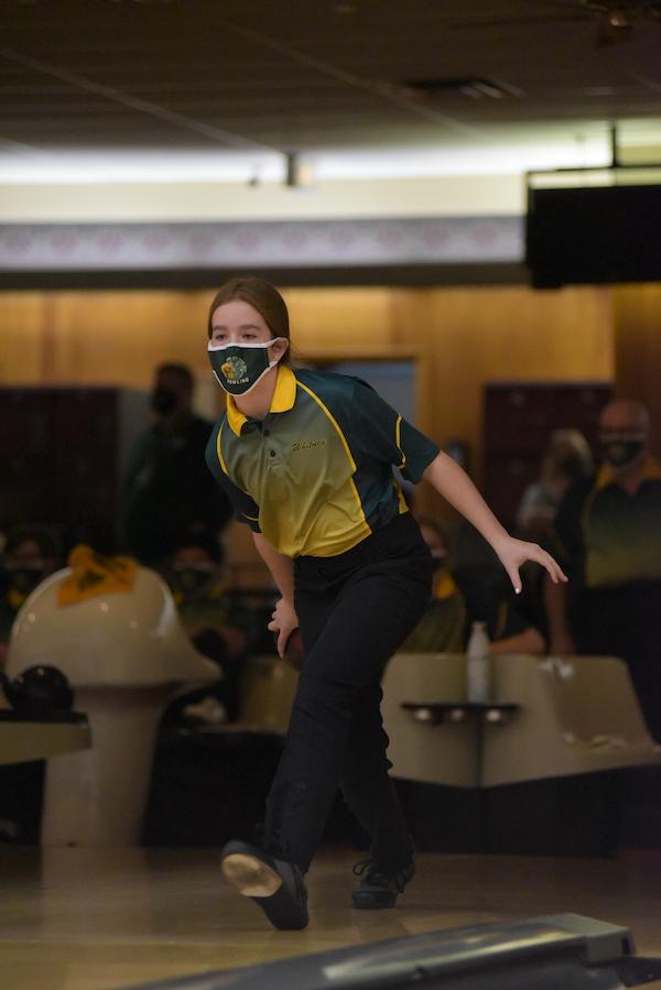 Whitney Noeller '24 looks ahead during her bowl Jan. 7.