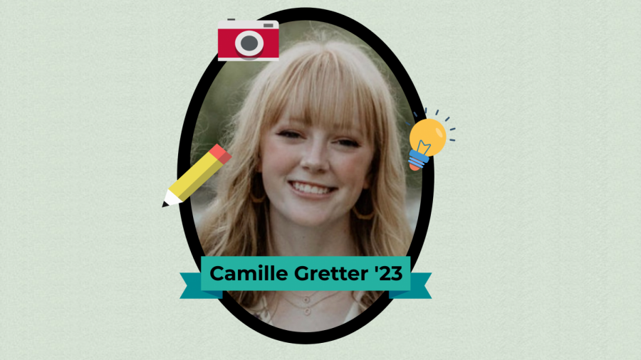 Camille Gretter '23 is a first-year WSS staffer who's already made a large impact on the staff and publication.