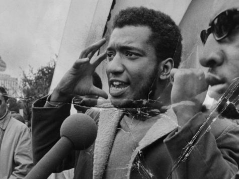 Fred Hampton delivers a speech in 1969.