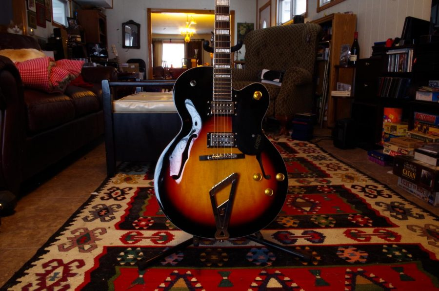 Gwen Watson got their Gretch Streamliner from a family friend. It is their only hollow-body guitar.