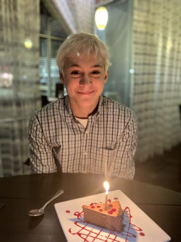 This photo of Dylan Salge '23 was taken on his birthday, January 27, 2020.