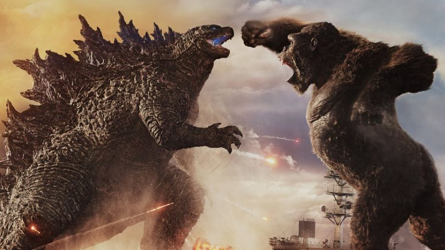 Godzilla and Kong battle for the title of King