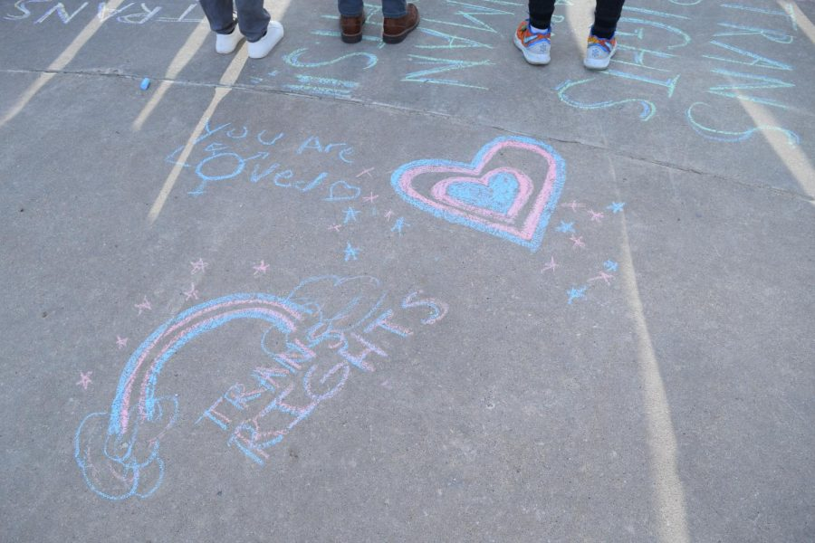 TDOV: Colorful chalk messages decorate the sidewalks. They are there as reminders that everyone matters.