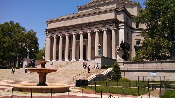 Students outside Columbia University.  Photo credit of Pixabay.