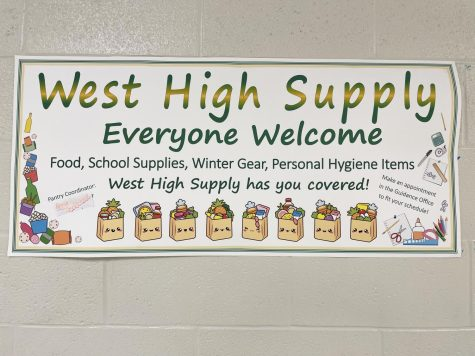 The West High Supply is a great resource for food, clothing, hygiene and more. See the office for more information.